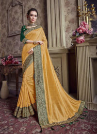Sareetag Rama  Designer Party Wear Satin Silk Saree