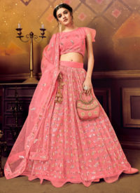 Sareetag PInk Panvi Designer Party Wear Lehenga Choli
