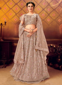 Sareetag Brown Panvi Designer Party Wear Lehenga Choli