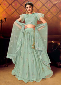 Sareetag Green Panvi Designer Party Wear Lehenga Choli