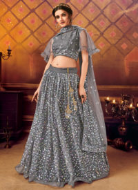 Sareetag Black Panvi Designer Party Wear Lehenga Choli
