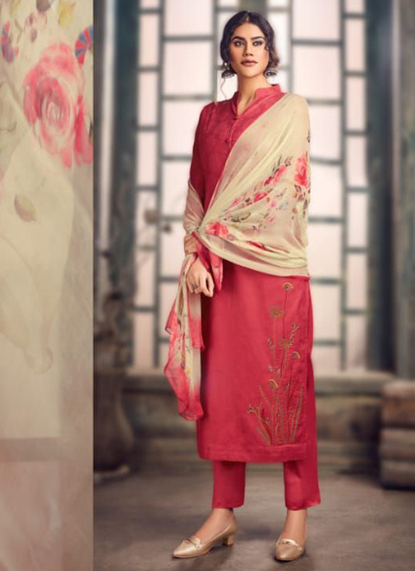 Maroon Color Party Wear Salwar Suit